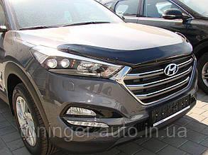 Мухобойка, дефлектор капота Hyundai Tucson 2015- (Sim)