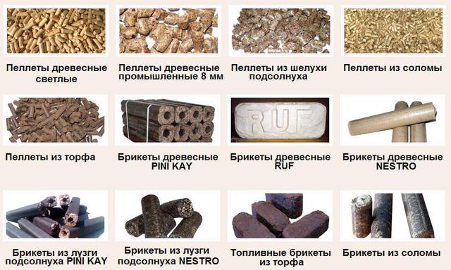 Топливные брикеты и пелеты, дрова (производство, реализация)