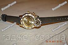 Стильные женские часы Kim Seng с подвеской в виде лебедя с черным ремешком., фото 2
