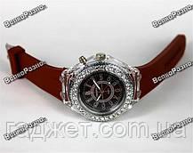 Женские часы Geneva Led. Наручные часы коричневого цвета., фото 2