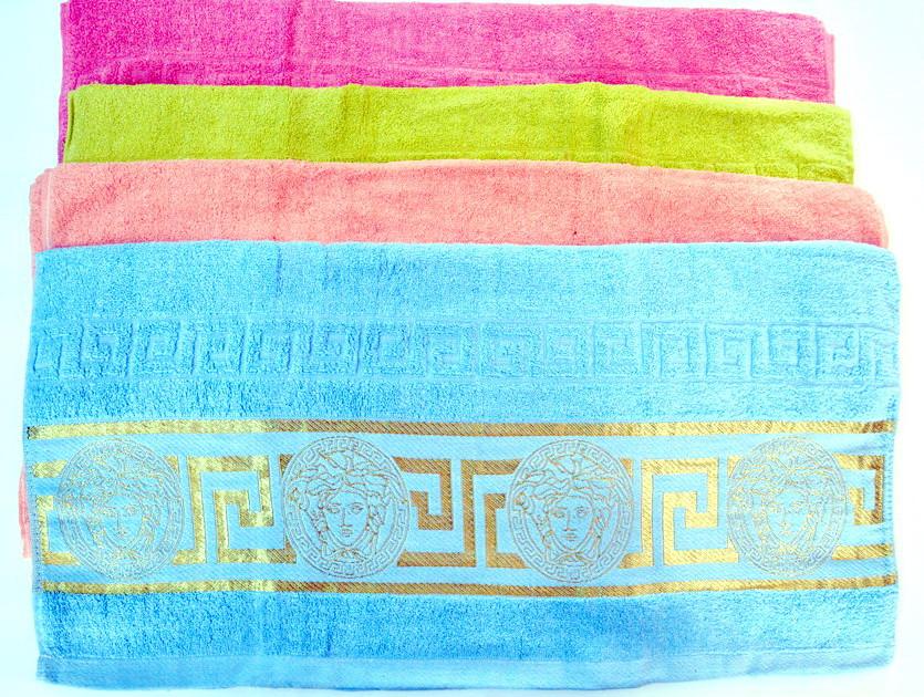 Рушник махровий банний Versace 70 х 140 див. різні кольори