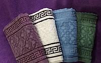 Полотенце махра/велюр банное Версаче 70 х 140 см. разные цвета