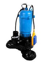 Насос чугунный  для чистой и грязной воды с измельчителем и поплавком1500W