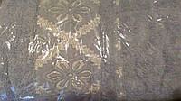 Полотенце махровое банное с вышивкой 70 х 140 см. разные цвета, фото 1