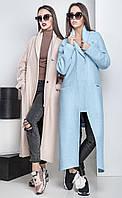 Женское оригинальное пальто асимметричного кроя Veltis (разные цвета), фото 1