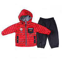 Демисезонный костюм на флисе для мальчика от 9 месяцев до 3 лет ТМ Peluche&Tartine S18 M 07 BF, фото 1