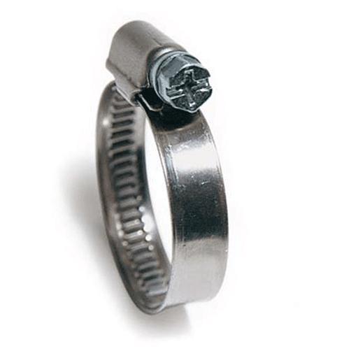 Хомут шланговий DIN3017 16-27 мм W1 9мм оцинков. сталь ,Clamp(Італія)