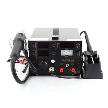Термовоздушная паяльная станция с паяльником Kraft&Dele KD856 5в1 4 сопла, фото 2
