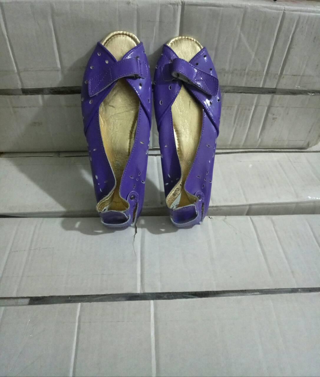 Балетка женские с переплетом и открытым носком