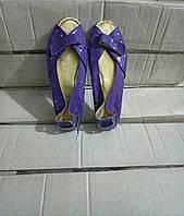 Балетка женские с переплетом и открытым носком, фото 1