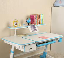 Детский стол  Amare с выдвижным ящиком + полка для книг SS16W, фото 2