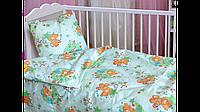 Детское постельное белье с мишками  в кроватку для новорожденных мальчик девочка,оптом из ранфорса,бязь