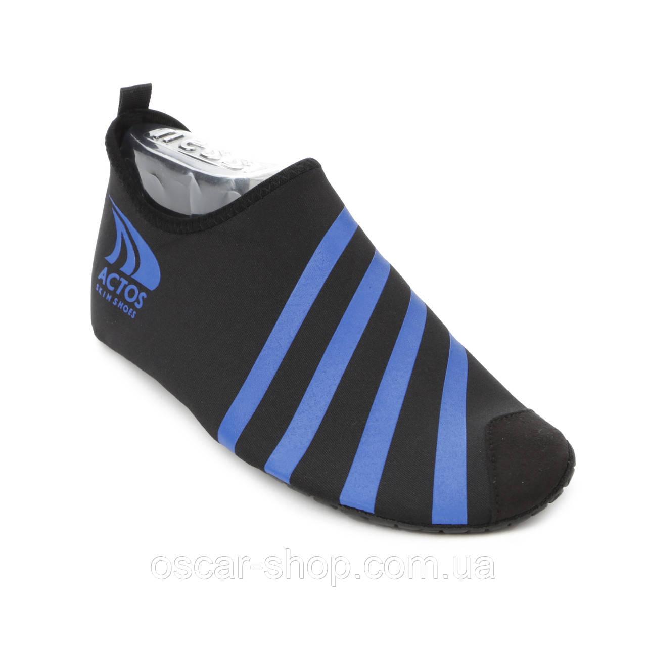 Обувь Actos Skin Shoes (разм. 42-42.5) Blue / Обувь для плавания / Обувь для спорта / Чешки для йоги / опт