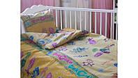Детский комплект постельного белья фиксики  в кроватку для новорожденных мальчик девочка,оптом из ранфорса
