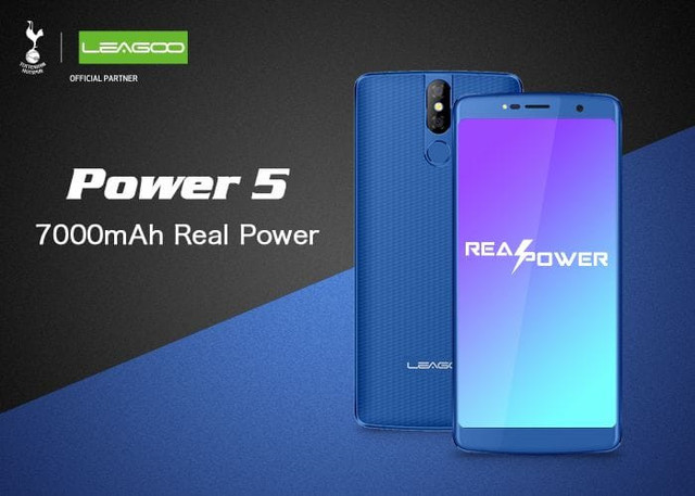 LEAGOO Power 5 с батареей на 7000mAh