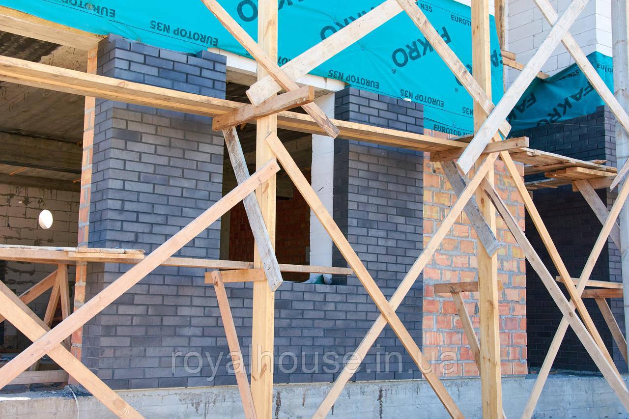 """Кладка кирпича под расшивку - """" Роял Хаус """" строительная компания полного цикла в Одессе"""
