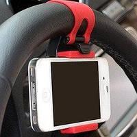 Силиконовый держатель для телефона на руль