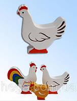 Фигурка Курица цветная, фото 1