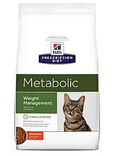 Лечебный корм для кошек HILL'S (Хиллс) PD Feline Metabolic метаболик при лишнем весе и ожирении, 4 кг Акция!