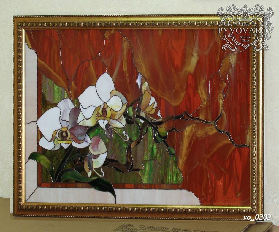 Картины из стекла Орхидея