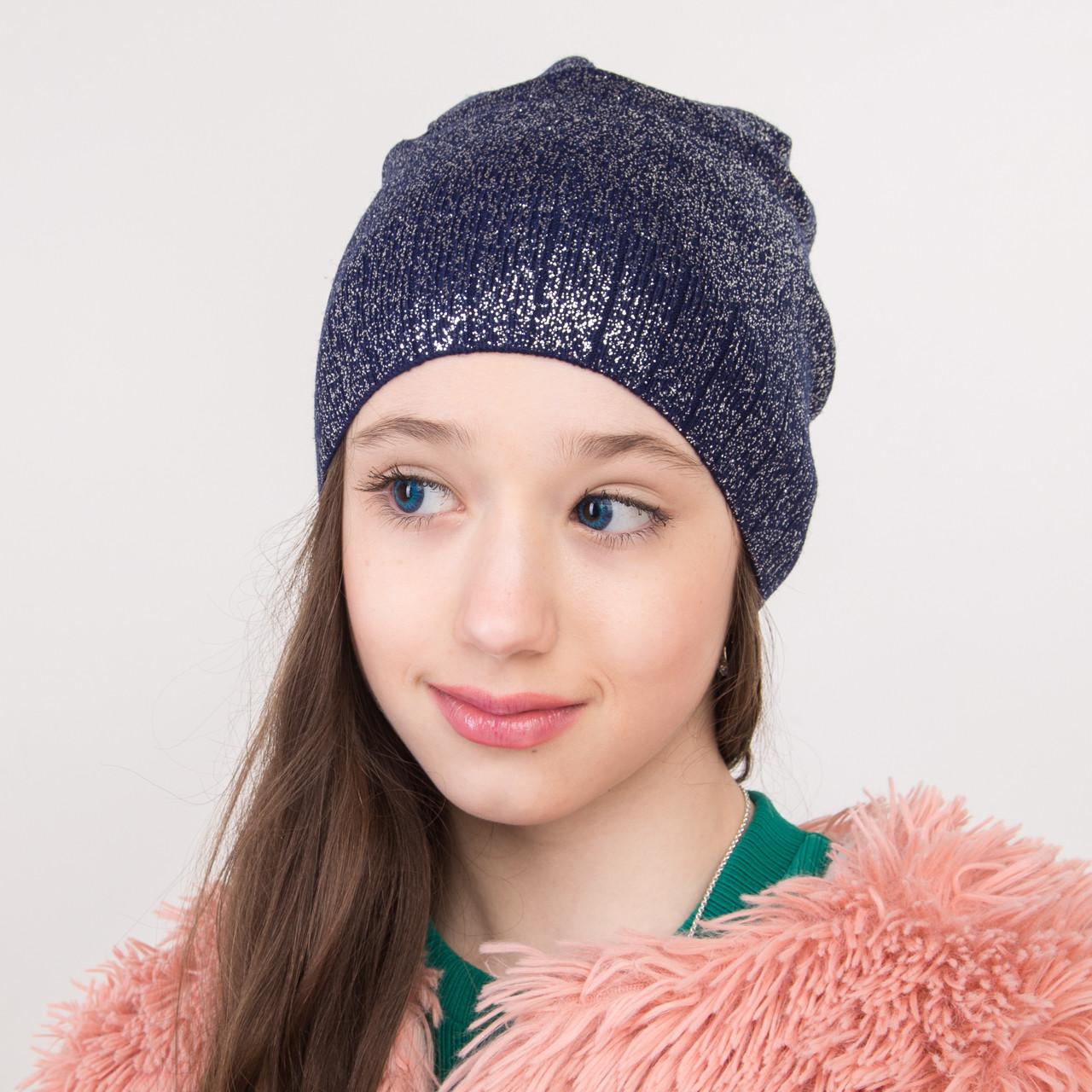 Весенняя вязаная шапка для девочки оптом - Артикул 2275
