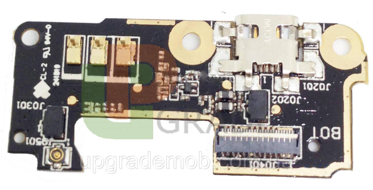 Шлейф Asus ZenFone 5 Lite A502CG 2014, с разъемом зарядки, с микрофоном, плата зарядки