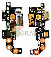 Шлейф для Asus ZenFone Zoom (ZX551ML), с разъемом зарядки, с микрофоном, плата зарядки