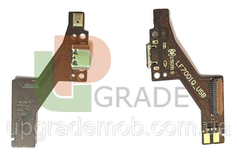 Шлейф Lenovo PB1-750M Phab, с разъемом зарядки, с микрофоном, плата зарядки, коричневая,LF7001Q_SUB