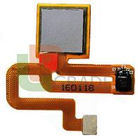 Шлейф для Xiaomi Redmi Note 3 /Redmi Note 3 Pro, с сканером отпечатка пальца, серого цвета