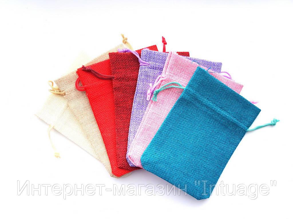 Подарочный мешочек из мешковины размер 10*14 см