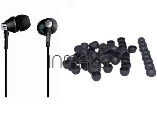 Амбушюры поролонки черные силикон 1 шт #100269