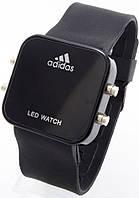 Наручные часы LED, черные