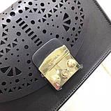 Cумка, клатч Фурла Метрополис Болеро натуральная кожа цвет черный, новинка 2018, реплика, фото 4