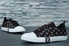Кеды мужские Louis Vuitton черные топ реплика, фото 3