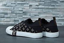 Кеды мужские Louis Vuitton черные топ реплика, фото 2
