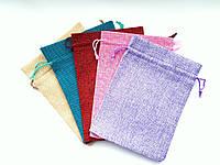 Подарочный мешочек из мешковины размер 13*18 см, фото 1