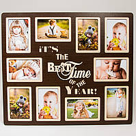 Мультирамка It's the Best Time of the Year (коричневая, 10 фото)