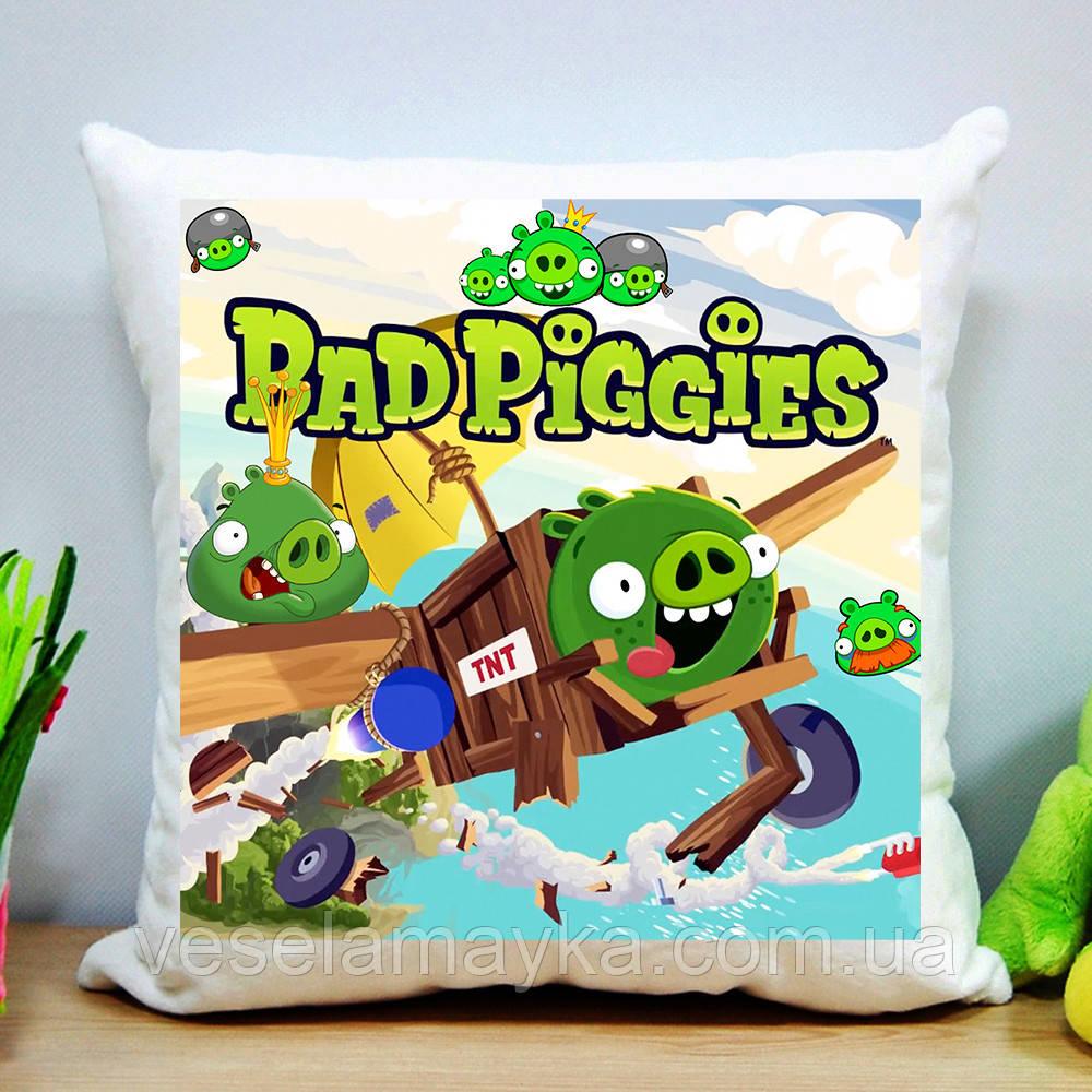 Плюшевая подушка Bad Piggies