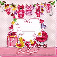 Набор для вышивки бисером Метрика для девочки (22 х 22 см) Абрис Арт AB-603