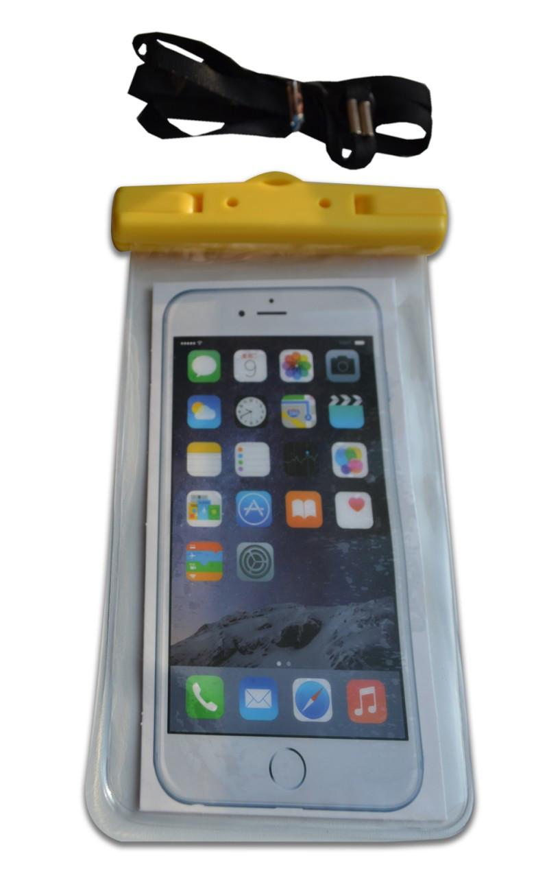 Водонепроникний чохол для телефону жовтий
