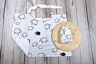 Фартук для кормления, накидка + сумочка-чехол, Овечки, фото 1