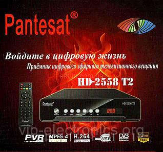 DVB-T цифрове Pantesat 2558+12V  T2 + DC з шт прикурювача