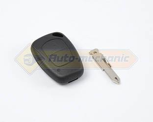 Корпус ключа с платой и язычком, на 2 кнопки на Renault Kangoo 1997->2008 - DSP (Китай) - PG350