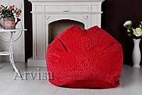 Бескаркасное Кресло мешок груша XXL флок мебельный с тиснением