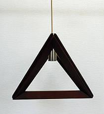 Люстра лофт из дерева TRIANGLE-2 Е27 темное дерево, фото 3