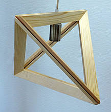 Люстра лофт из дерева TRIANGLE-1 Е27  светлое дерево, фото 3
