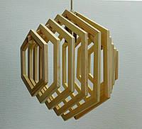 Люстра лофт из дерева Кольца ХБС-6