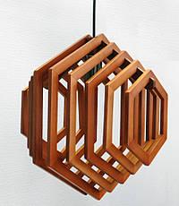 Люстра лофт из дерева Кольца ХБТ-6, фото 2