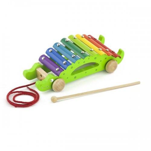 Крокодил деревянная игрушка-каталка Viga Toys (50342)