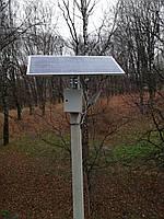 20W світлодіодний автономний вуличний світильник SMD з сонячною батареєю 155W, фото 1